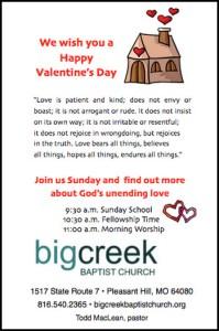 Valentines Day Church Outreach Door hanger