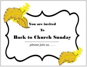 Back to Church Sunday Invitation