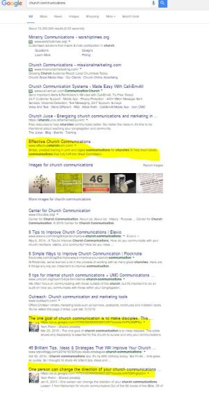 ECC on Page one of Google Search