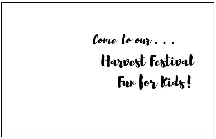 harvest invitations