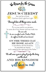 Jesus is the reason for the Season postcard