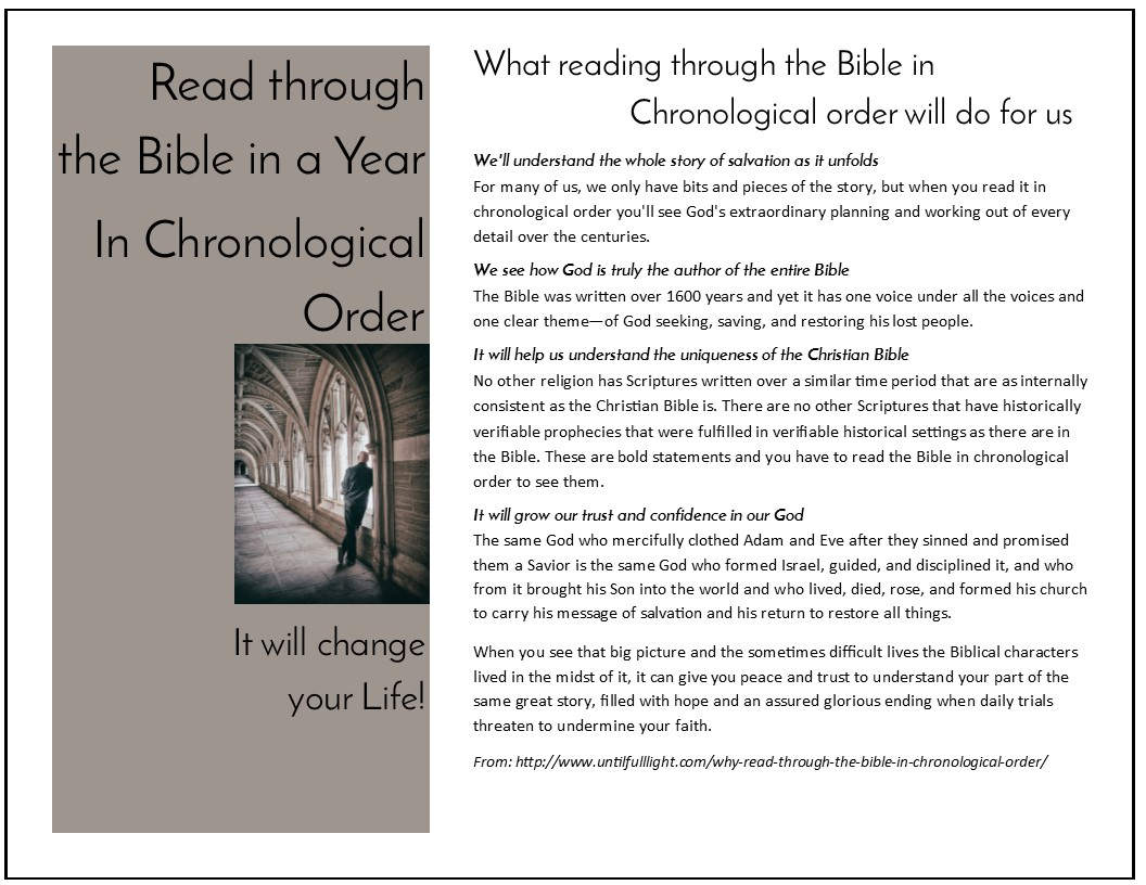 Free Templates Read Through The Bible In A Yeartemplates For