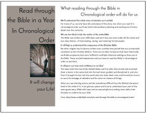 FREE Templates and motivational articles: Read through the Bible in a year—Templates for handouts, booklets