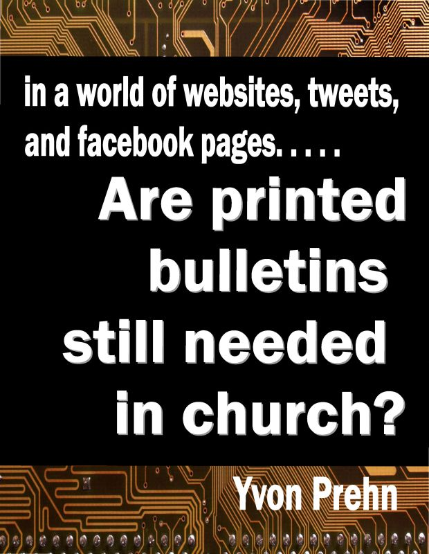 Are printed bulletins still needed in church?