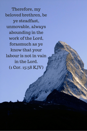 Be steadfast in your work as a church communicator