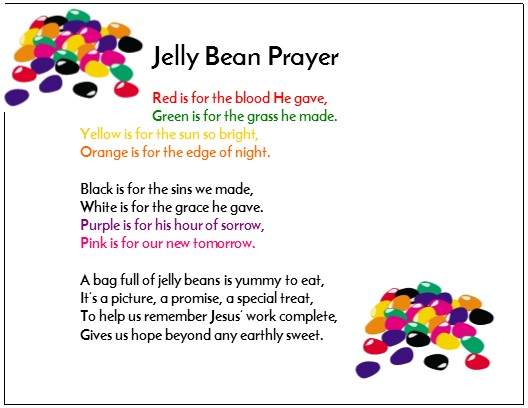Jelly Bean Prayer on the jellybean prayer free printable