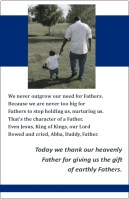 Bulletin inserts or social media content for Father's Day; poetry, challenges, encouragements
