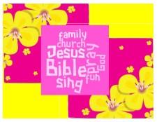 Summer church reminder postcards