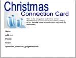Christmas Strategy—Christmas Connection Cards—effective tools to get people to return after Christmas