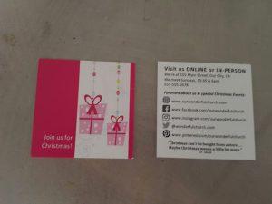 Christmas Invitation Cards--contemporary square design