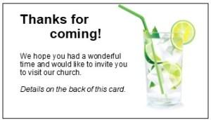 Summer Business Card Invitation vard