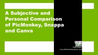Comparison of PicMonkey, Canva, and Snappa
