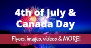 4th of July & Canada Day, prayers, flyers, images, slides