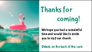 Summer Back to Church Invitation Card