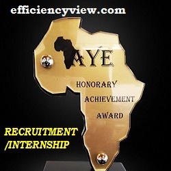 Africa's Young Entrepreneur (AYE) Recruitment/Internship Program 2020/2021