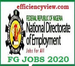 Photo of Apply for 2020 Federal Government Jobs Recruitment of 774000 Candidates through National Directorate of Employment (NDA) Portal