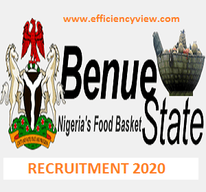Photo of Benue State Civil Service Recruitment 2020-2021- download Form here