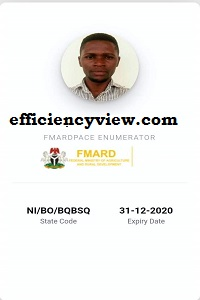 Npower FMARDPACE Payment 2020/2021: How to get FMARD Pace Enumerator ID Card