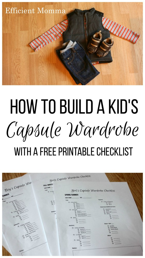 How to Build a Kid's Capsule Wardrobe Checklist
