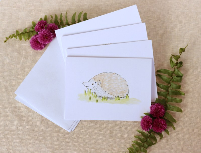 Pebble Creek Prints Hedgehog Note Cards
