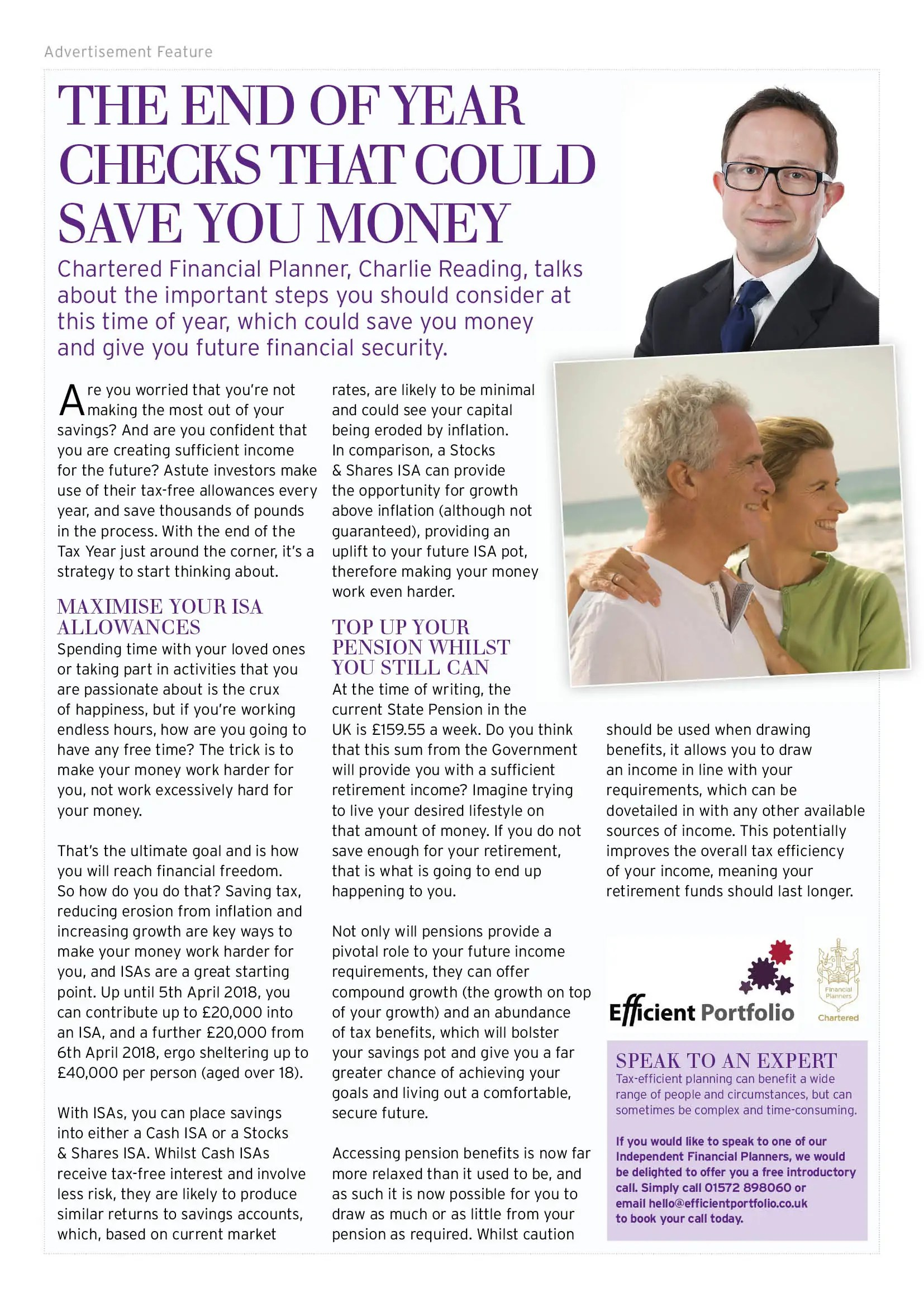 Rutland Living Efficient Portfolio Article Feb