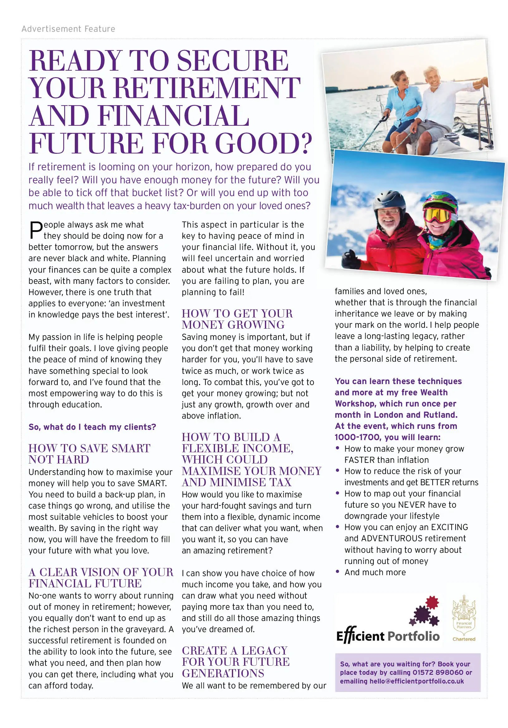 Rutland Living Efficient Portfolio Article March