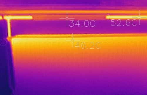 Radiator infrared heat reading