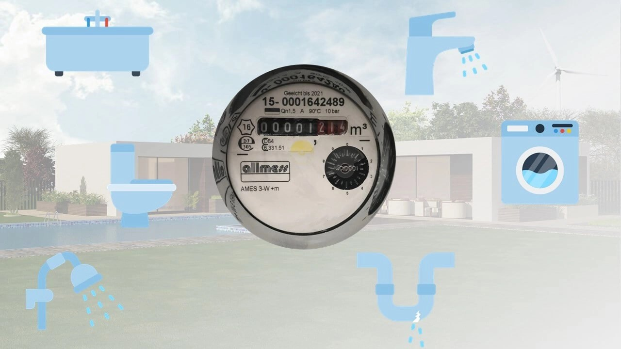 Measure you water usage at home