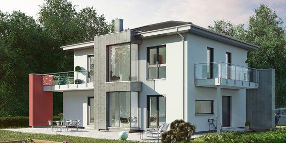 Das neue Musterhaus in Poing von OKAL: Eine elegante Stadtvilla mit nachhaltiger Ausstattung.