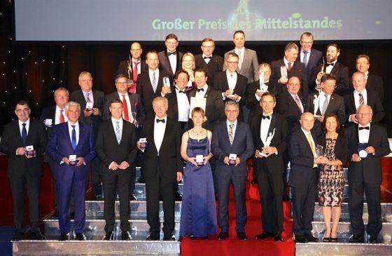 """Beim """"Großen Preis des Mittelstandes"""" zeichnete die Oskar-Patzelt-Stiftung innovative, wirtschaftlich überzeugende Unternehmen aus, die sich zudem sozial engagieren. (Foto: Boris Löffert)"""