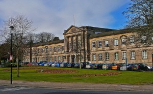 front of Harrogate Council offices