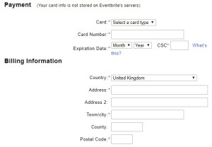 registration form with asterix against every field