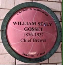 Plaaque commemorating William Sealy Gosset 1876-1937, Chief Brewer