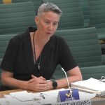Examples of co-design: Janet Hughes gives evidence to a Select Committee