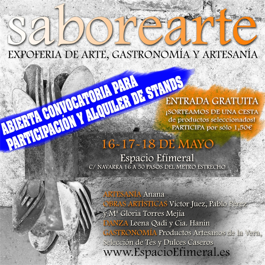 ExpoFeria SABOREARTE – Abierta inscripción participantes