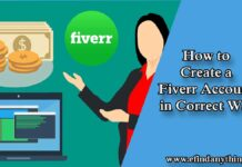 Create a Fiverr account