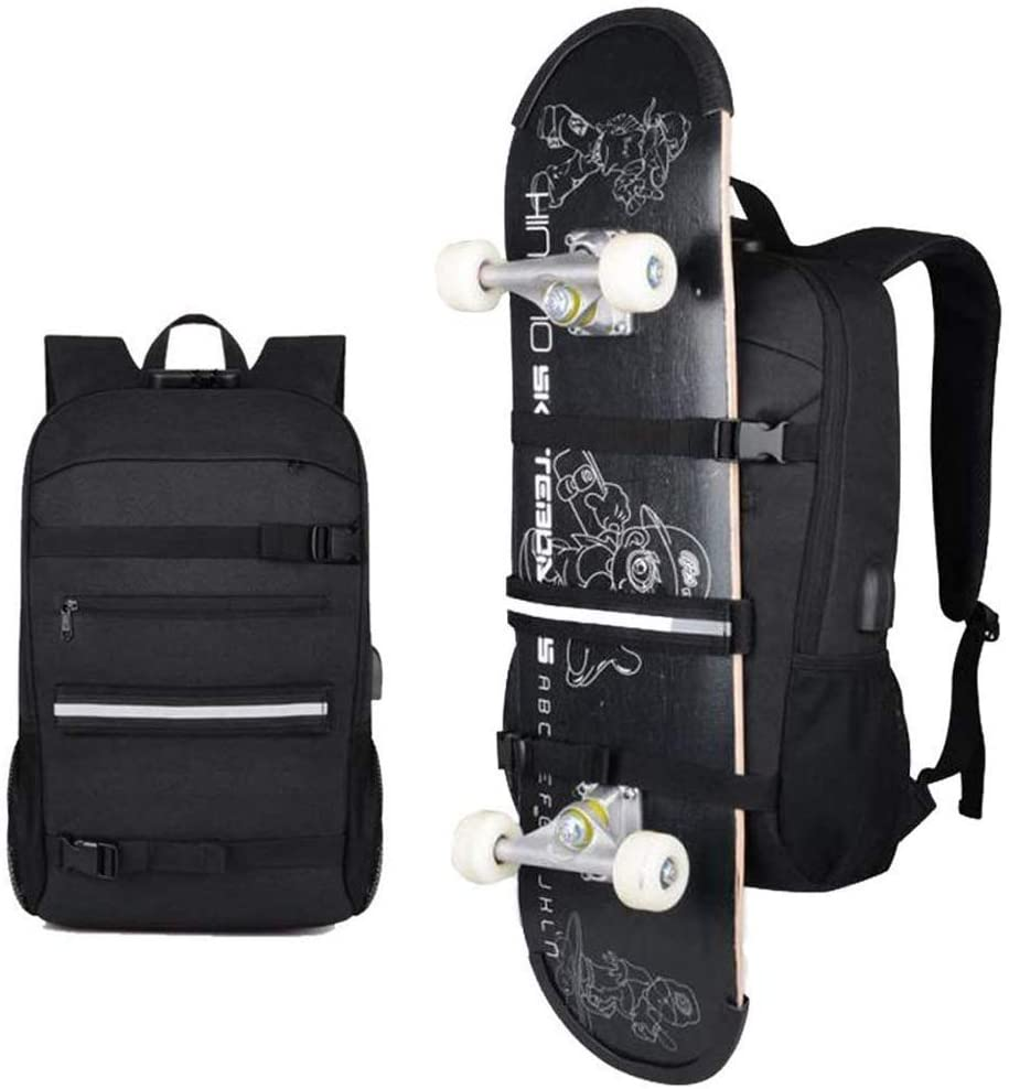 Backpack Skateboard Rucksack Anti Theft Resistant