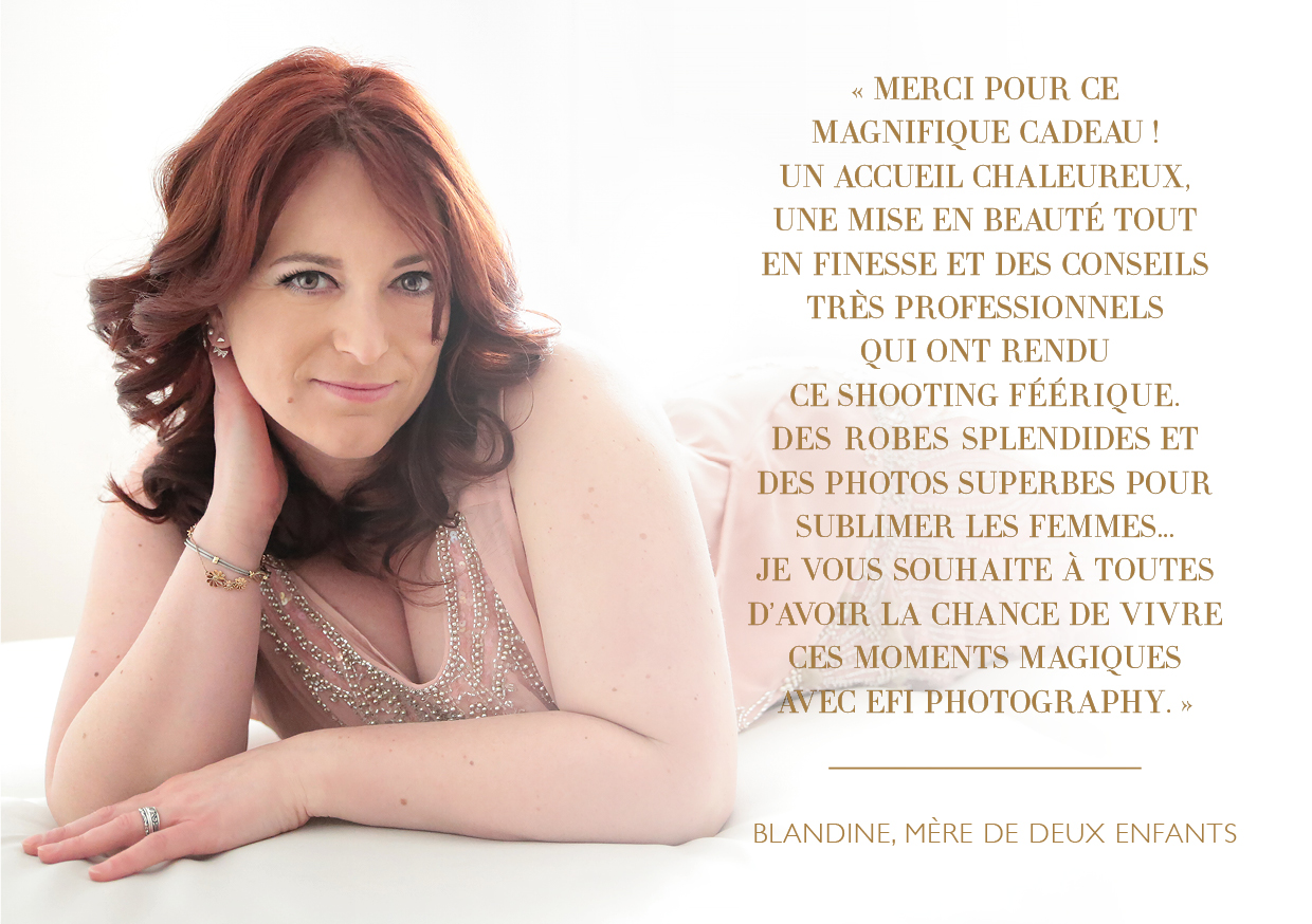portrait de femme shooting photo boudoir robe