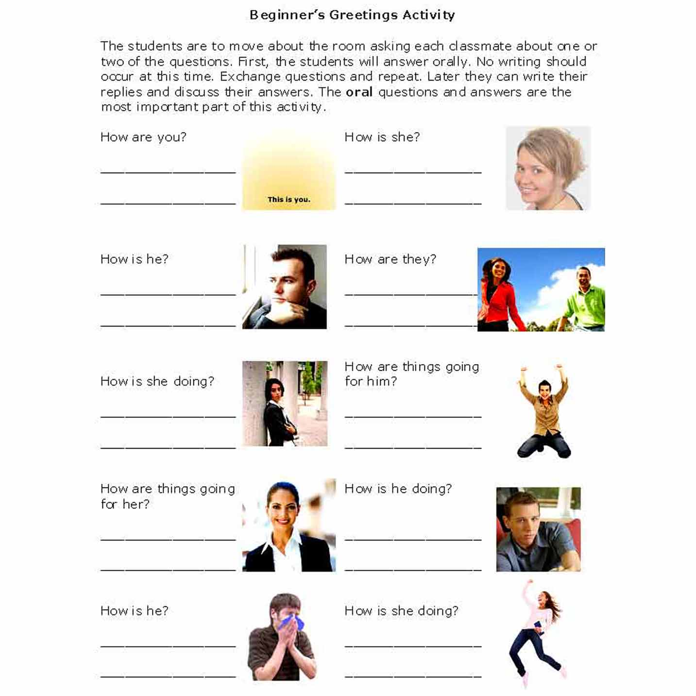 Activities That Introduce Beginners To Friendly Greetings