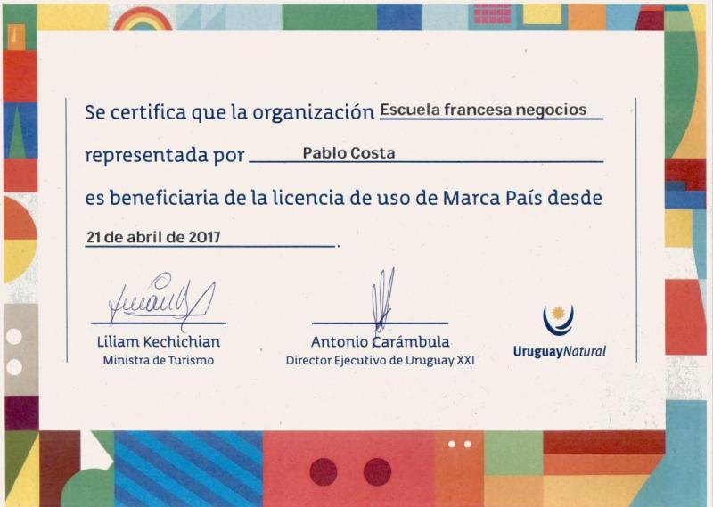 Certificad Marca País