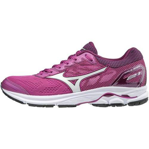 Mizuno Wave Rider 21 Women's Running Clover White Dark Purple 410974 6100