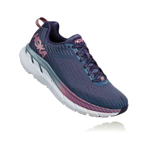 Hoka One One Clifton 5 Women's Wide D Marlin Blue Ribbon 1093758 MBRB