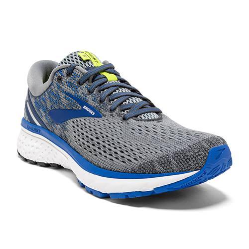 Brooks Ghost 11 Men's Running Wide 4E Grey Blue Silver 1102884E006