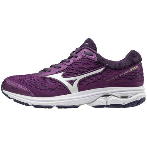 Mizuno Wave Rider 22 Women's Running Bright Violet Purple Plumeria 410990.7W6Z