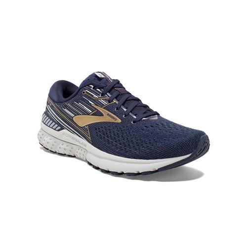 Brooks Adrenaline GTS 19 Men's Running Wide 2E Navy Gold Grey 1102942E439