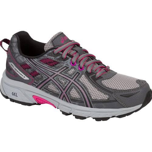 Asics GEL Venture 6 Women's Running Shoe Carbon Black Pink Peacock T7G6N.9790