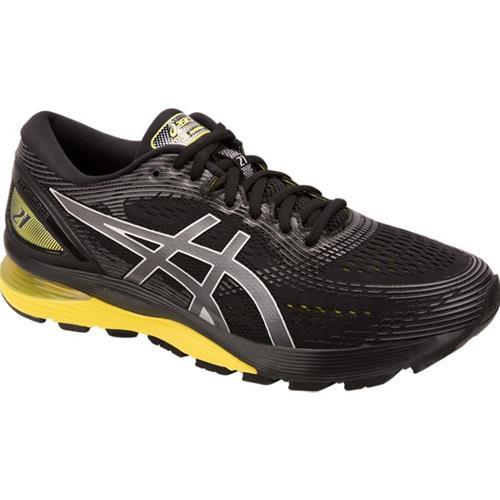 Asics Gel Nimbus 21 Men's Running Shoe Black Lemon Spark 1011A169 003