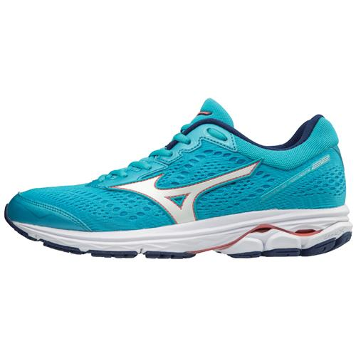 Mizuno Wave Rider 22 Women's Running Blue Atoll Georgia Peach 410990.5Z17