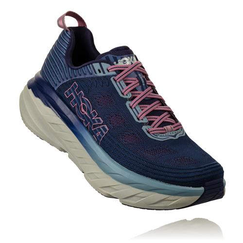 Hoka One One Bondi 6 Women's Wide D Marlin Ribbon Blue 1019272 MBRB