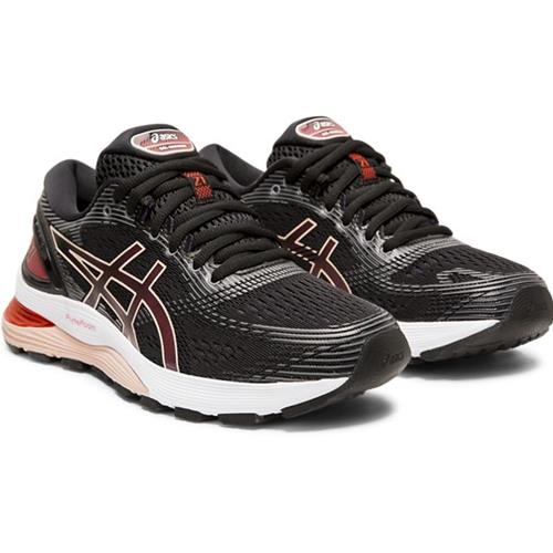 Asics Gel Nimbus 21 Women's Running Shoe Black Laser Pink 1012A156 002